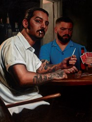 Bad Beat by Vincent Kamp - Varnished Original Painting on Stretched Canvas sized 24x32 inches. Available from Whitewall Galleries
